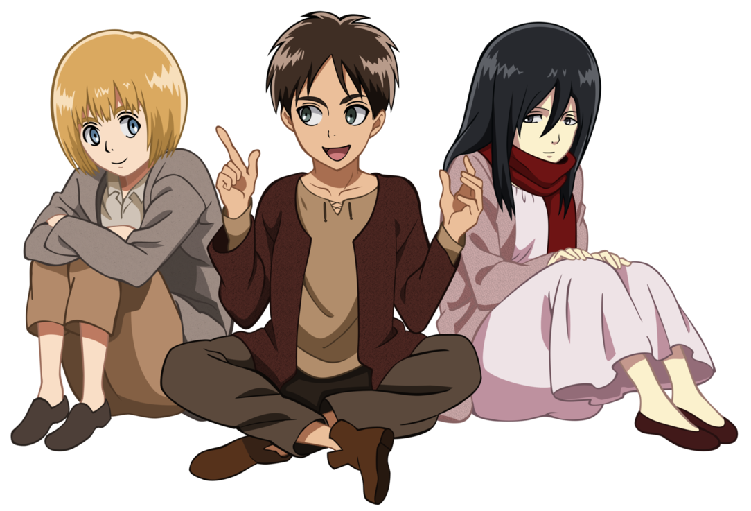 Armin Eren Mikasa Kids Eren And Mikasa Attack On Titan Anime Armin