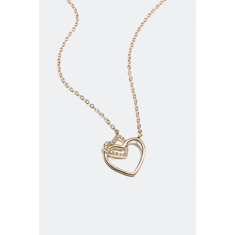 glitter halsband hjärta