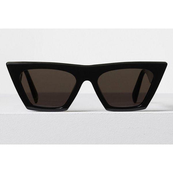 7ab1a3e567c0 Celine Edge Black Acetate Sunglasses