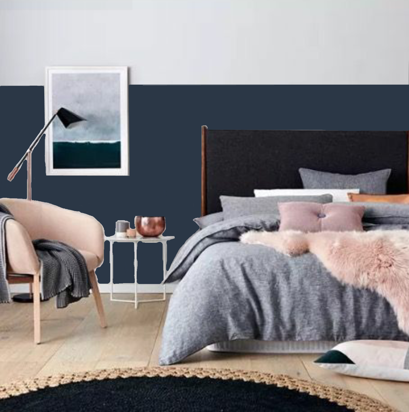 Dulux Poor Knights Half Feature Wall | Black Luxe ...