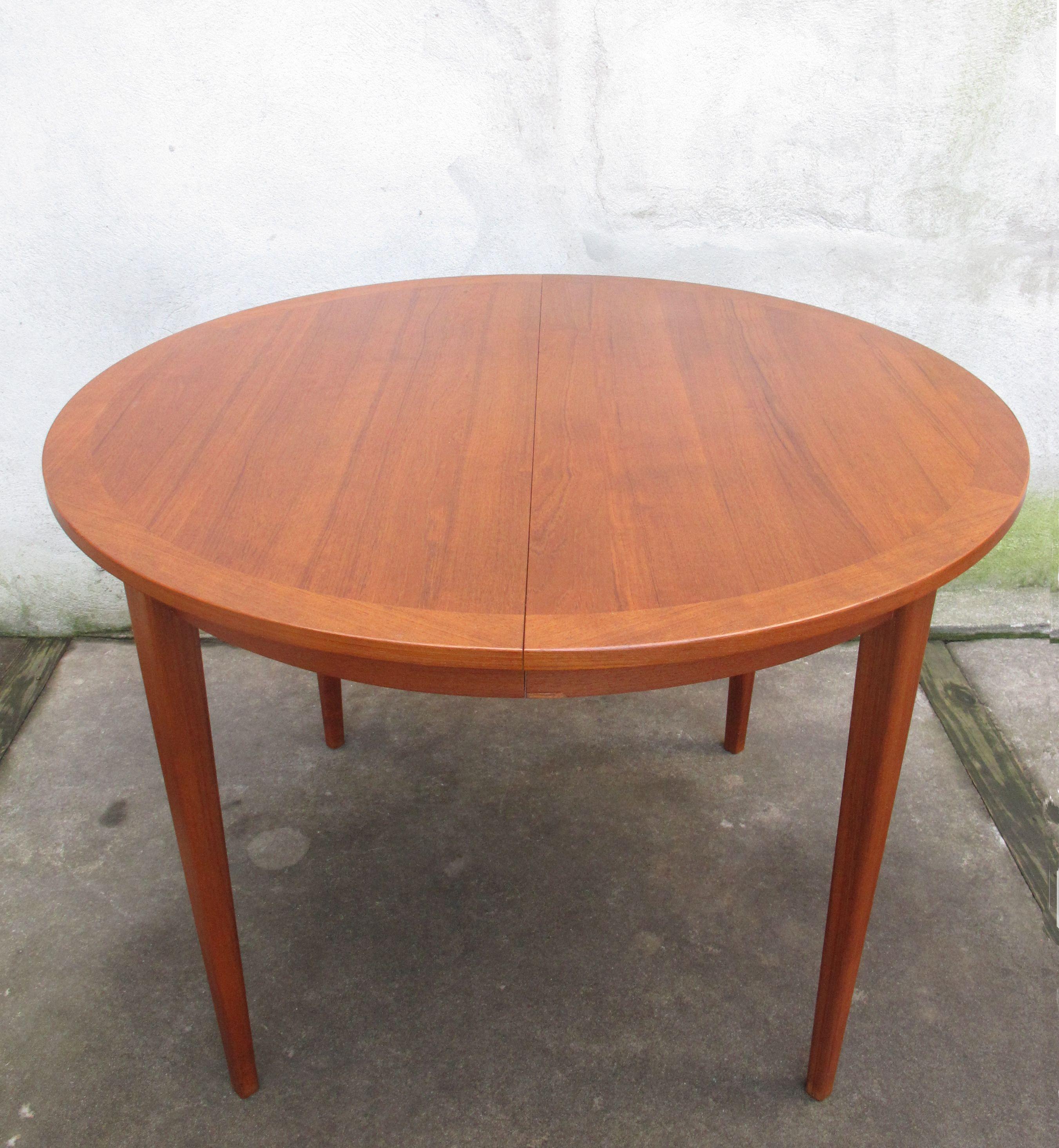 Swedish Modern Round Teak Dining Table Teak Dining Table Modern Furniture Dining Table