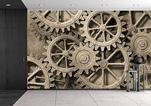 wall26 a Mechanical Background with Gears and Cogs Re
