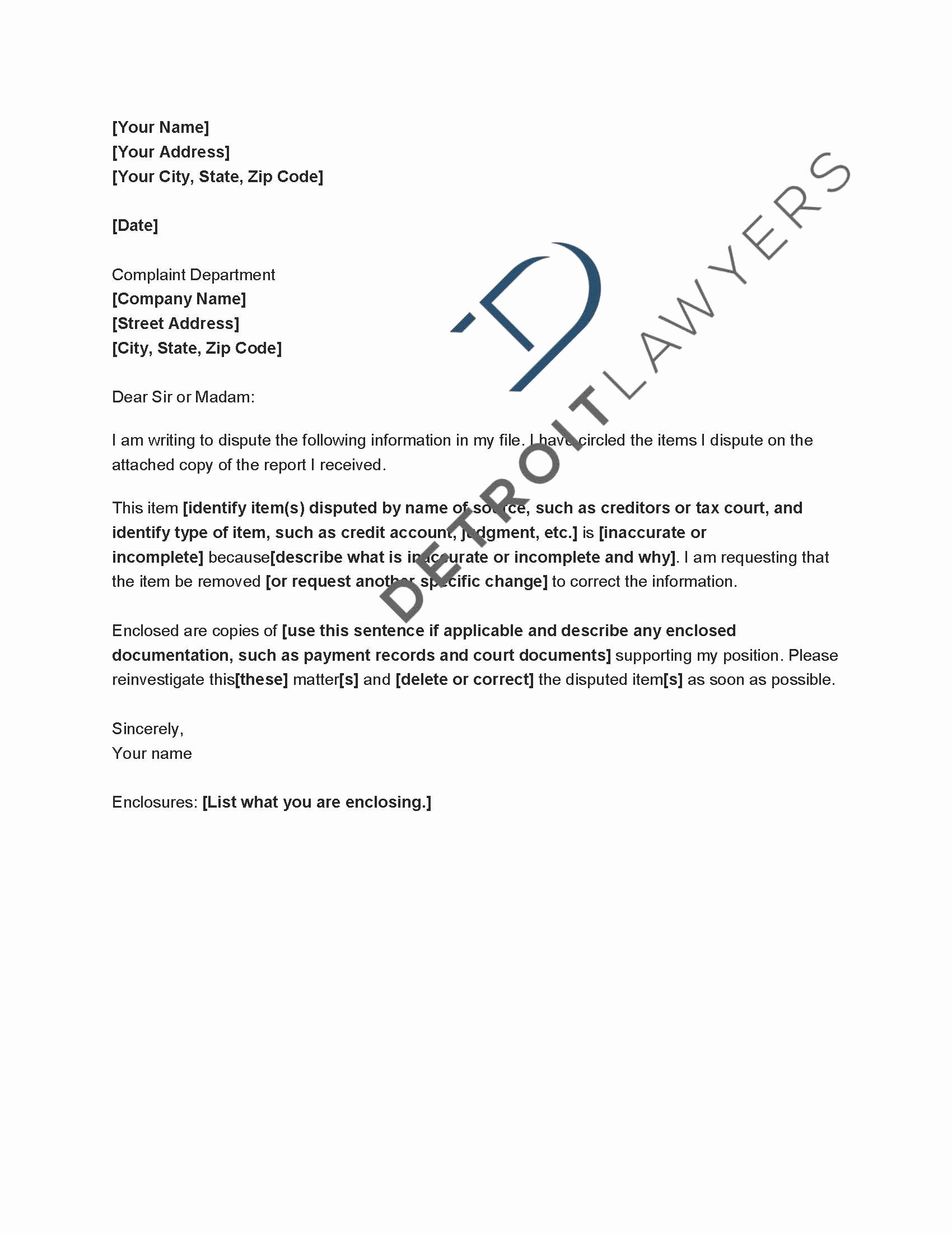 20 Insolvency Letter To Creditors Template Dannybarrantes Template Dispute Letter Template Credit Dispute Letter Template Credit Dispute Letter