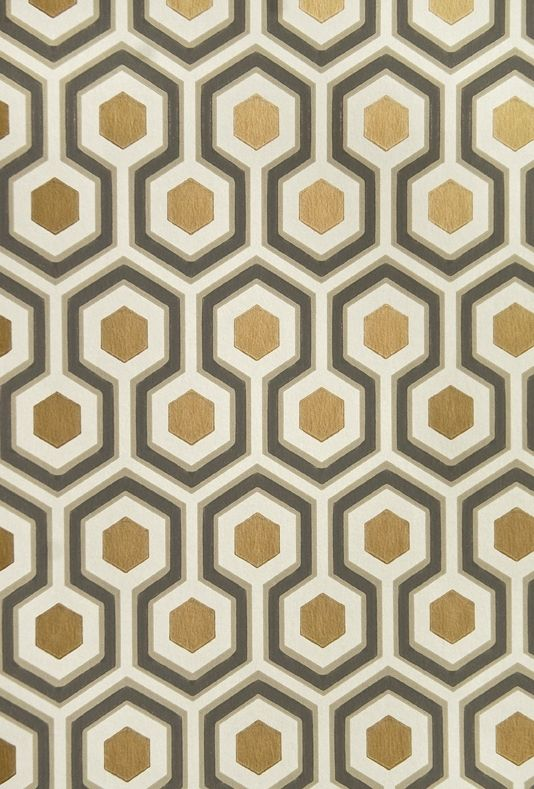 hicks 39 hexagon wallpaper papier peint peindre et the office. Black Bedroom Furniture Sets. Home Design Ideas