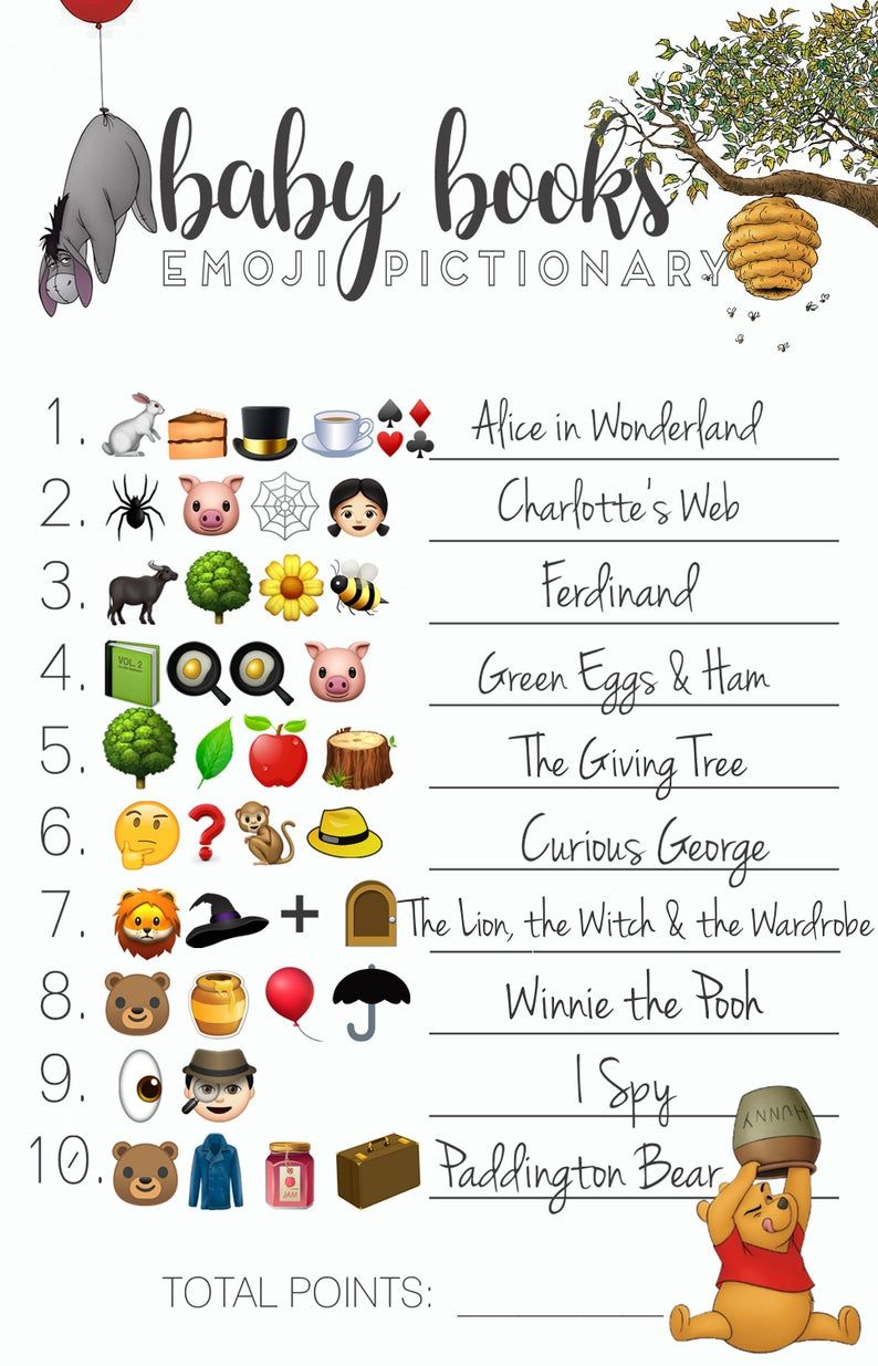 Baby Shower Emoji Pictionary Guessing Game With Answers Etsy In 2020 Guess The Emoji Guess The Emoji Answers Pictionary For Kids