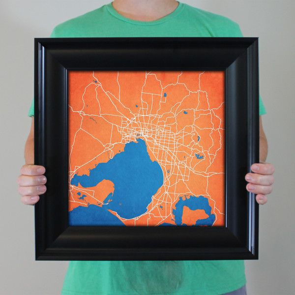 Map art print of melbourne australia celebrate some of the best map art print of melbourne australia celebrate some of the best cities the in gumiabroncs Images