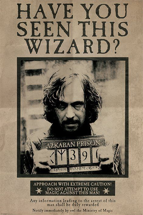 Harry Potter And The Prisoner Of Azkaban - Movie Poster (Wanted: Sirius Black)