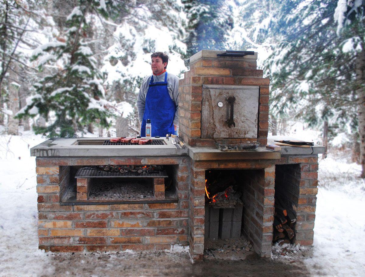 Classic brick smoker patio kitchen pinterest asador horno