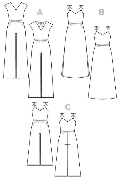dc425be854737 Sallie Jumpsuit   Maxidress Pattern    Closet Case Files - for a jumpsuit  with the waist at the right location. Also possibly for pajamas