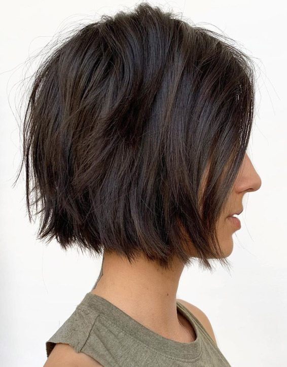 Super Cute Blunt Textured Short Bob Haircut In 2019 #choppybobhaircuts