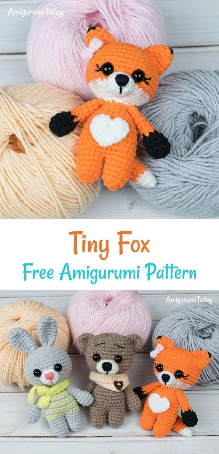 Tiny Fox Free Amigurumi Pattern » King Of Amigurumi #amigurumimodelleri