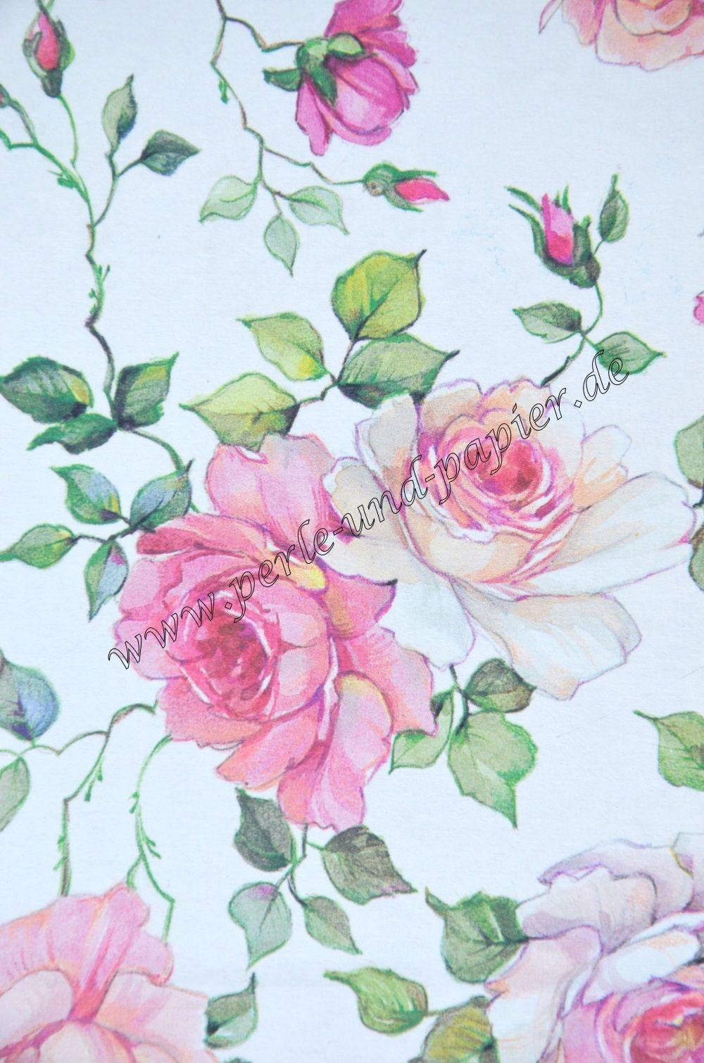 Papierausschnitt Rosen Altrosa Hergestellt In Italien Dekorpapier Papier Fotoalbum