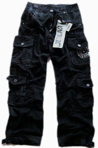 c4e7b1c057654 Jet Lag JetLag cargo trousers Mario black: Amazon.co.uk: Clothing ...