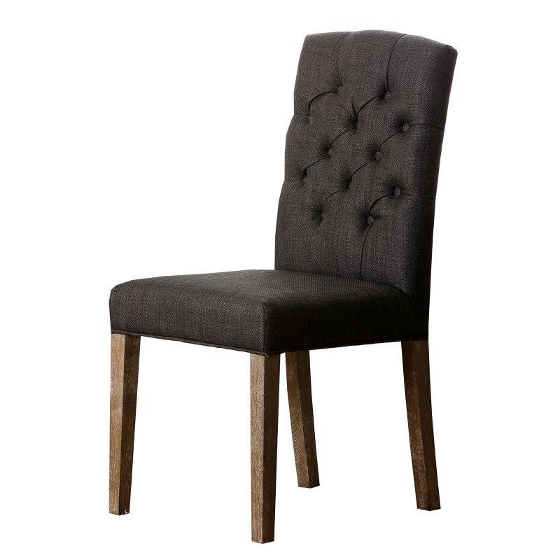 Abbyson Living Larua Linen Tufted Dining Chair Grey HS DC