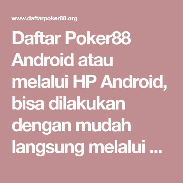 Android   Android, Poker, Uang