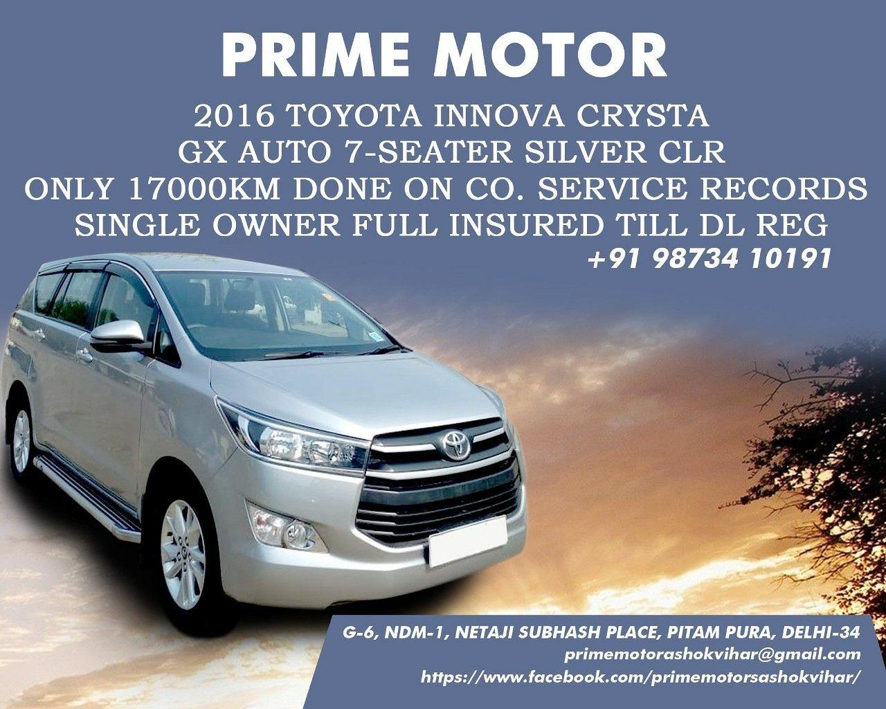 Innova Crysta Auto Gx 2016 Toyota Innova All Cars Used Cars