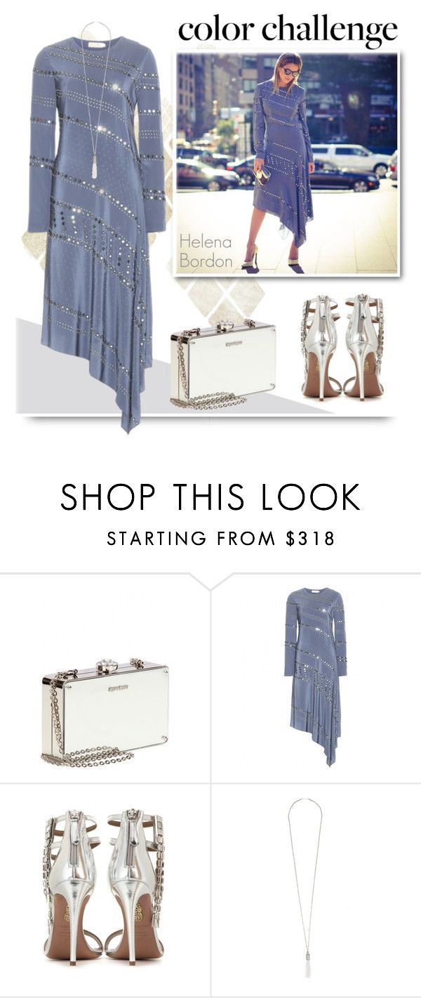 """Rock This Look: Blue and Silver"" by emavera ❤ liked on Polyvore featuring Kale, Miu Miu, Tory Burch, Aquazzura, Eddie Borgo, ToryBurch, miumiu, EddieBorgo and blueandsilver"