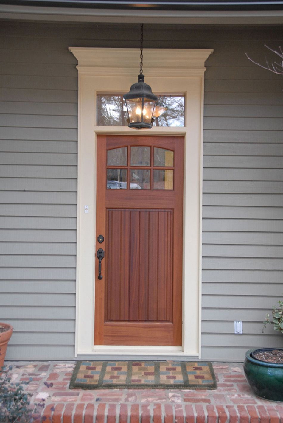 EXOVATIONS® Door Pediment Burrlesson Home AFTER Photo