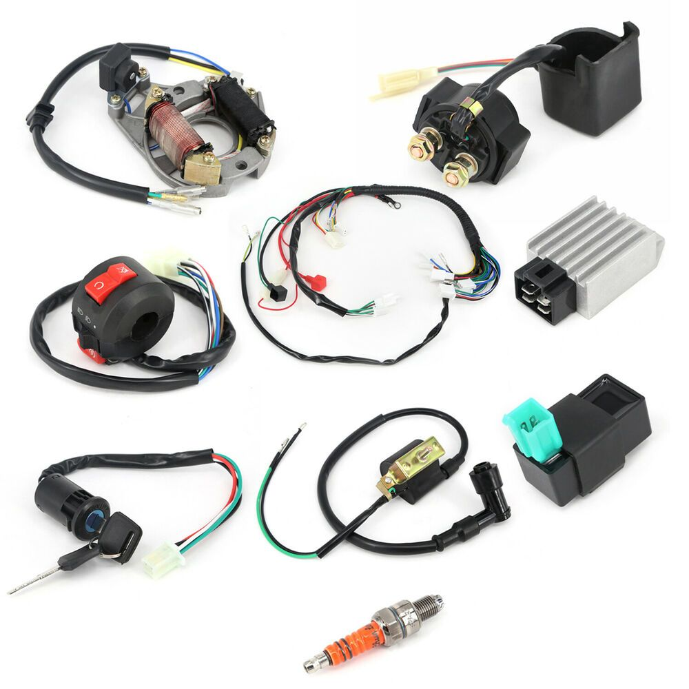 Advertisement Ebay Key Switch Wire Harness Cdi Spark Plug Rectifier Solenoid Wiring Electric Quad Motorcycle Parts And Accessories Atv Atv Accessories