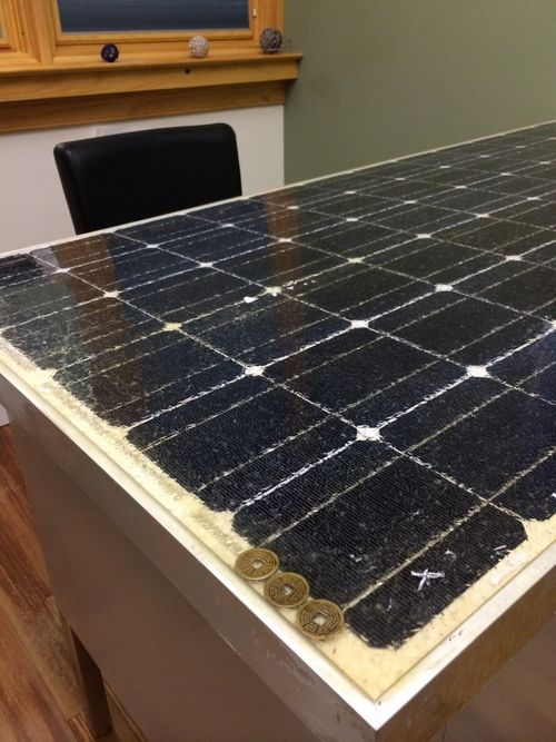 Reclaimed Solar Panel Desk Funki Shui Design Home