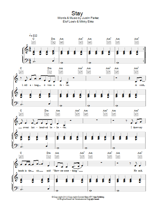 Stay Rihanna Piano Sheet Music Buy And Download Digital Sheet