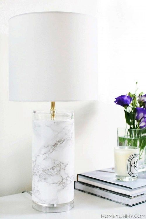 Merveilleux Elegant DIY Faux Marble Table Lamp | Shelterness