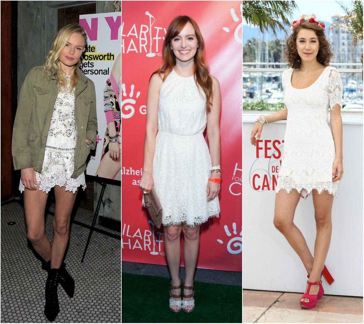 Ideas Para Combinar Un Vestido De Encaje Blanco Vestidos