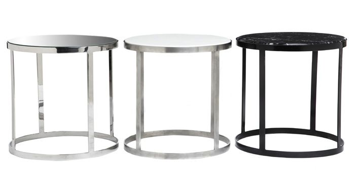 Round Trio side tables
