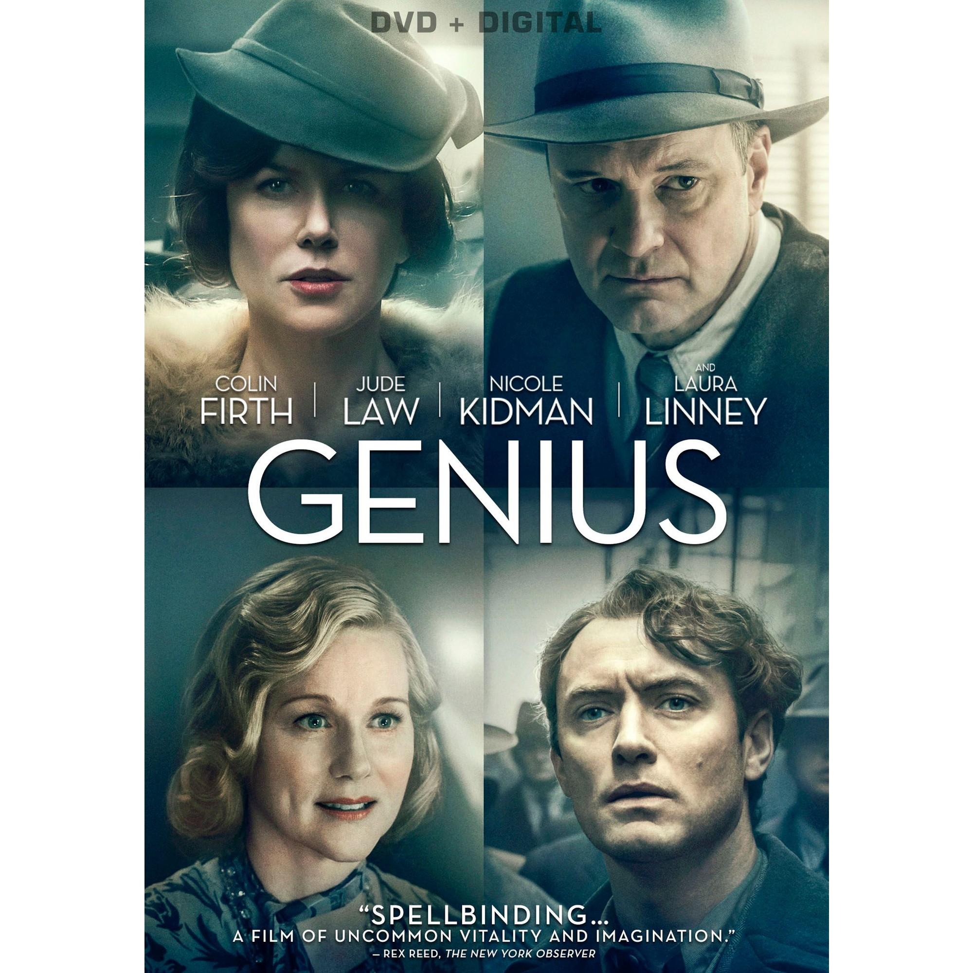 Genius Dvd 2016 In 2021 Movies Worth Watching Good Movies On Netflix Good Movies To Watch
