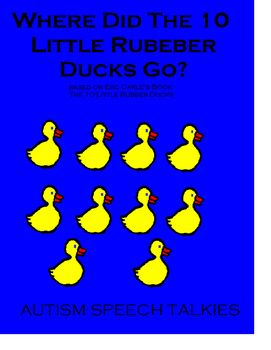 10 Little Rubber Ducks Adapted Book Wh Questions Bw Printable