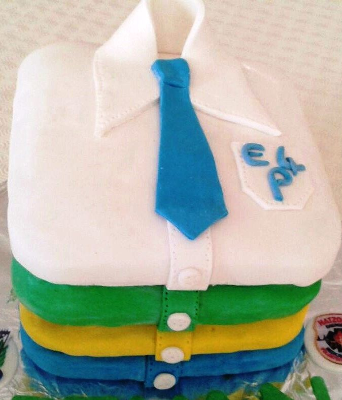 stacked shirt cake