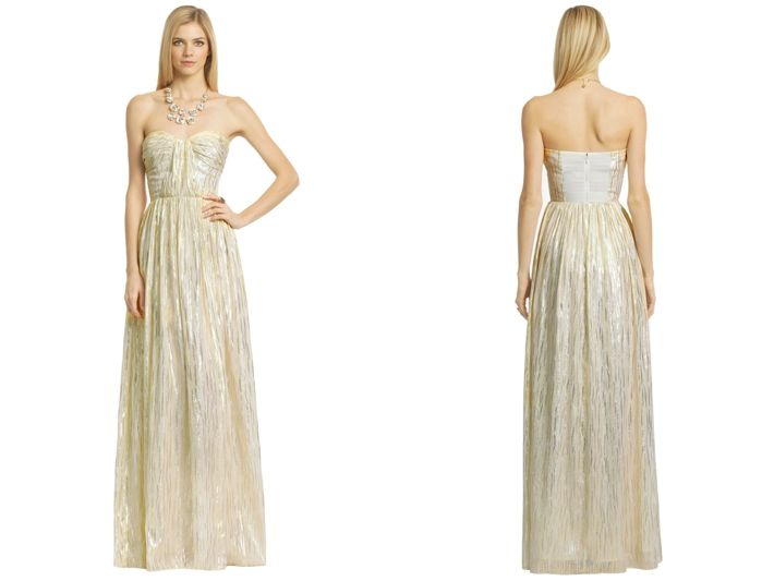 10 Best Gold Bridesmaids Dresses from