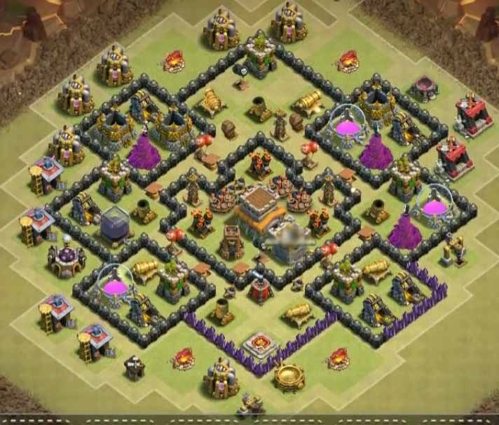 Base Coc Th 8 Anti Bintang 3 5