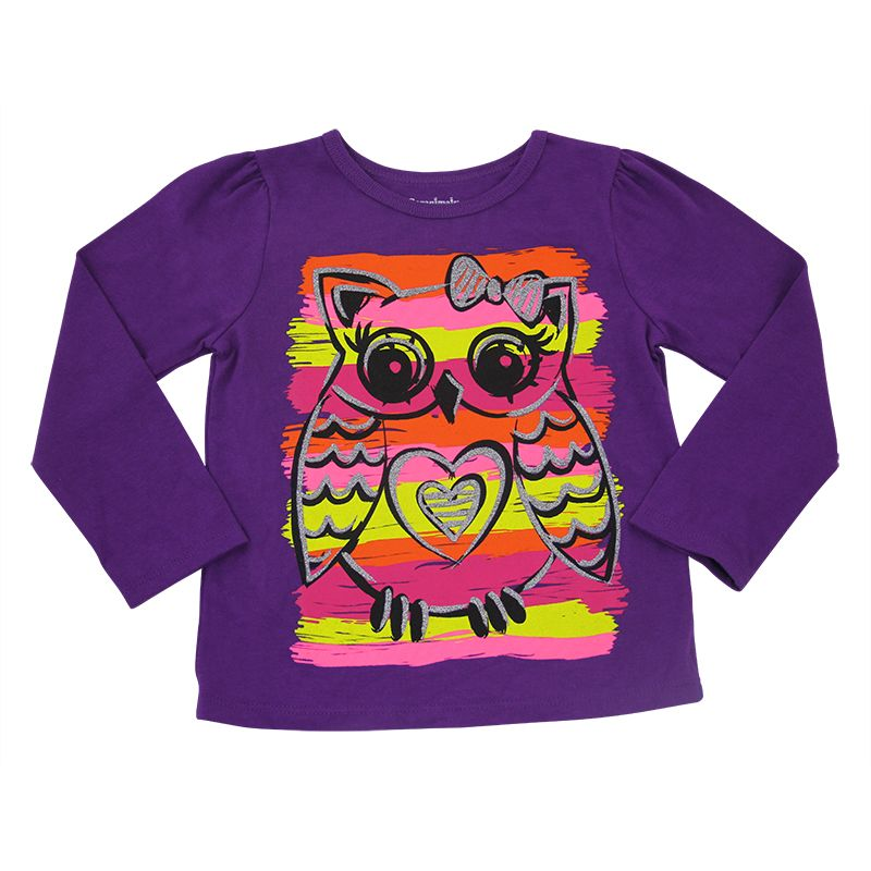 Graphic Tee in Purple