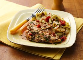 Slow Cooker Chicken with Tomatoes and Artichokes