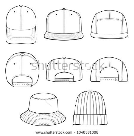7440ff9a188 Hat beanie design 2018 illustration flat sketches template