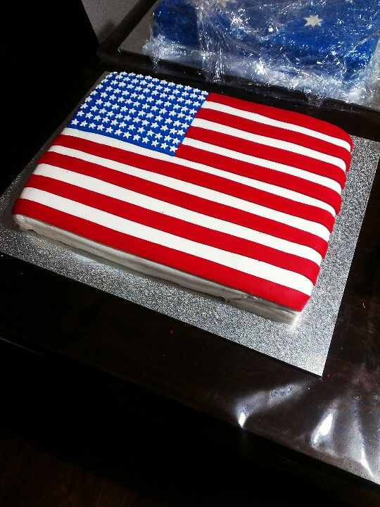 American flag cake b day cake ideas pinterest red for American flag cake decoration