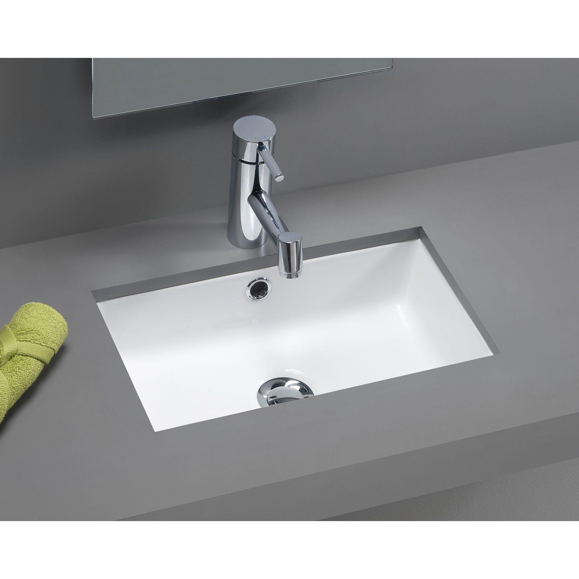 Bissonnet Traffic Agres Ceramic Mini Bathroom Sink In White