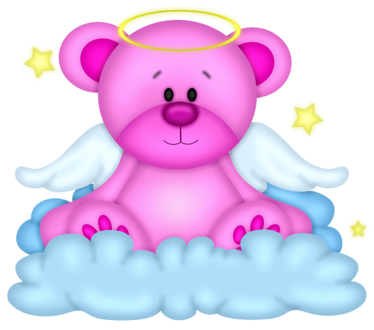 Winter Fun Animal Clipart Angel Teddy Bear