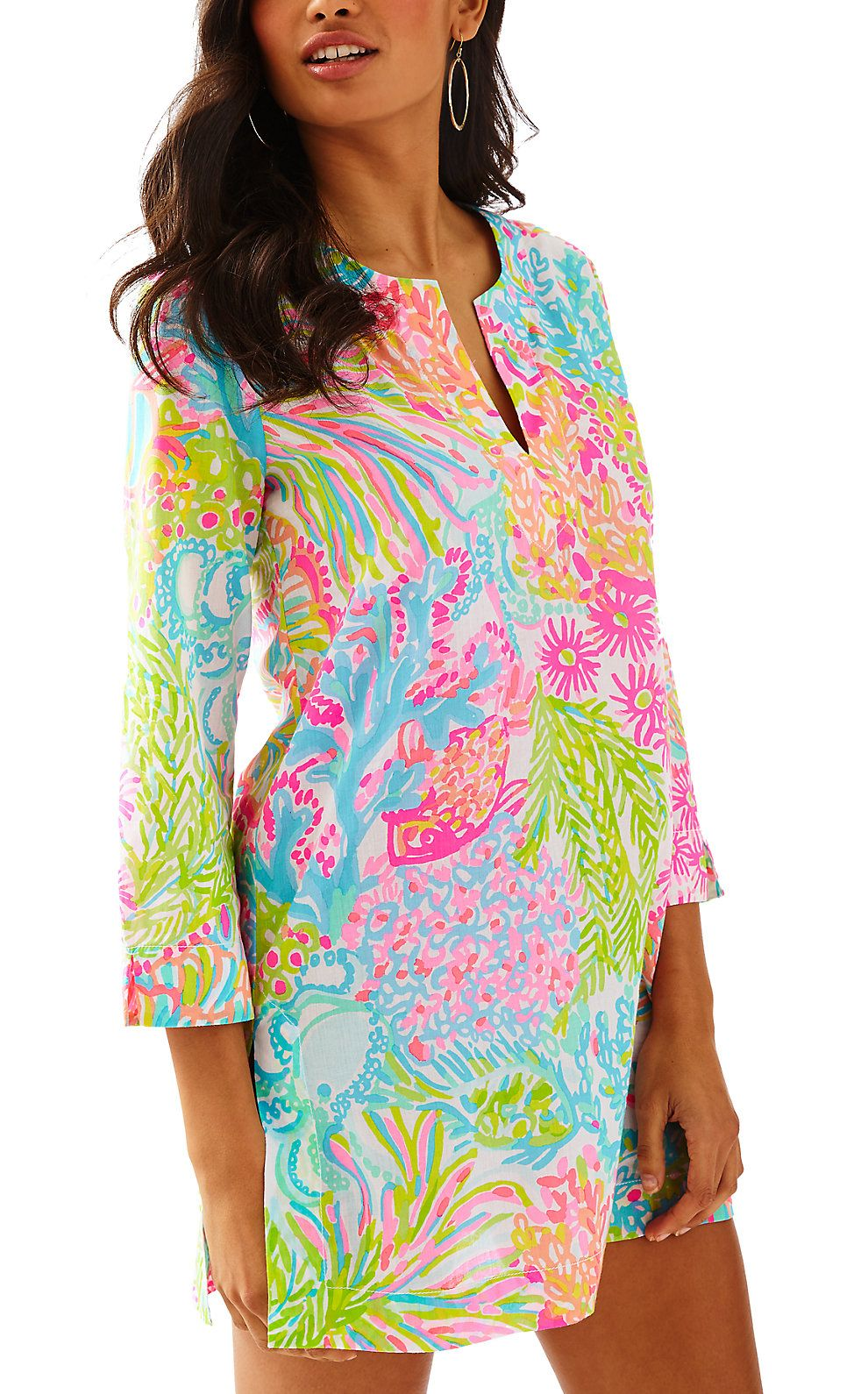 60e28ea350 Lilly Pulitzer Womens Marco Island Tunic Marco Island, Beach Dresses, Knit  Dress, Shops