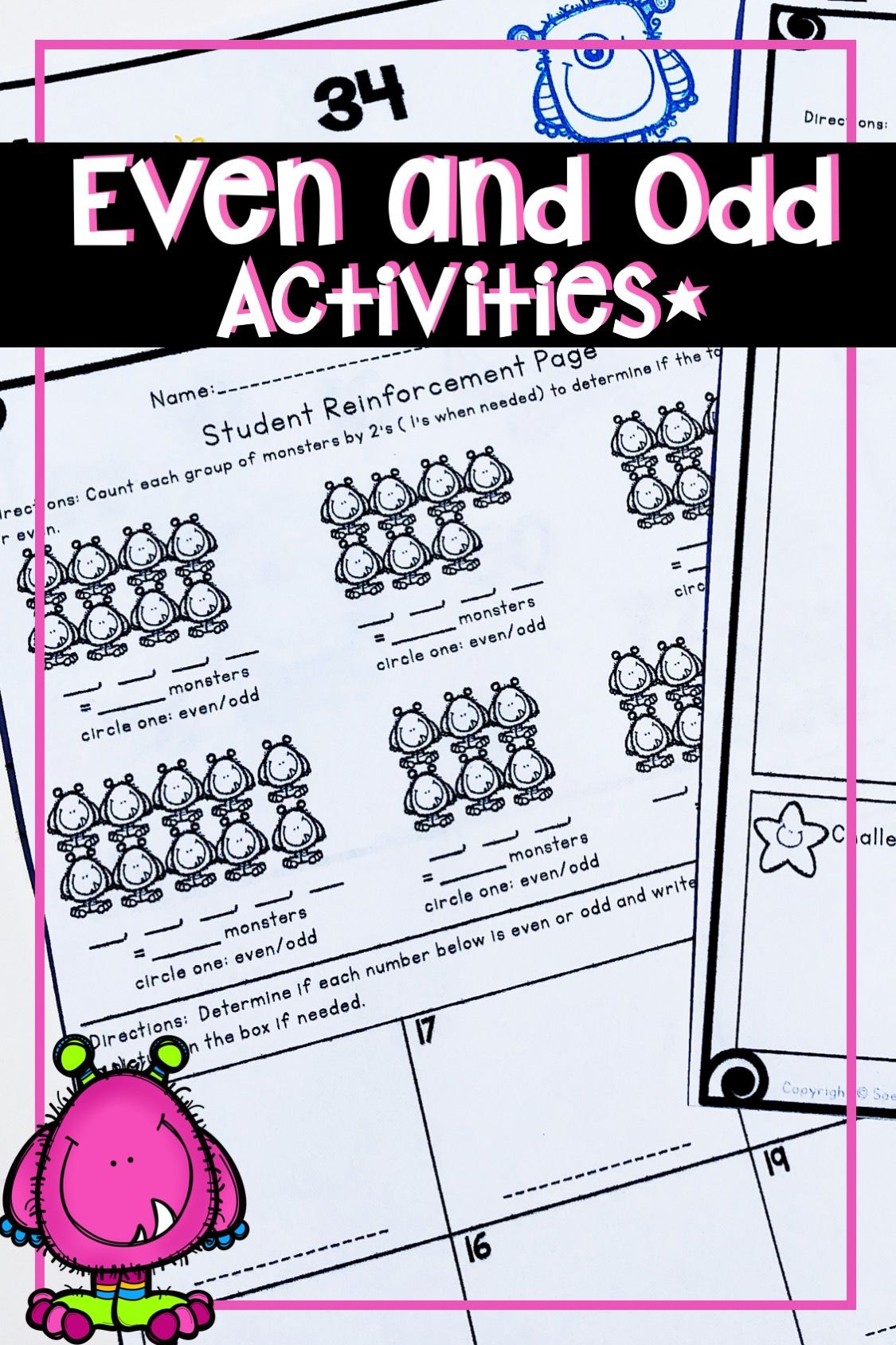 Even And Odd Numbers Activities Worksheets Lesson Plans