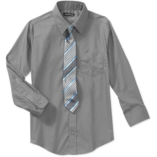 df03cbaa341 George Boys Packaged Dress Shirt-Tie Set