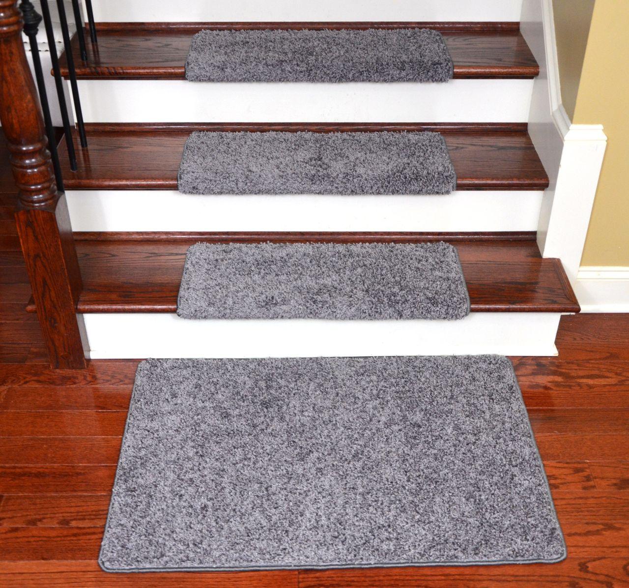 Dean Modern Diy Peel And Stick Bullnose Wraparound Non Skid Carpet | Self Stick Carpet Stair Treads | Stair Nosing | Stairway | Anti Slip | Stick Bullnose Wraparound | Beaudoin Utility Peel