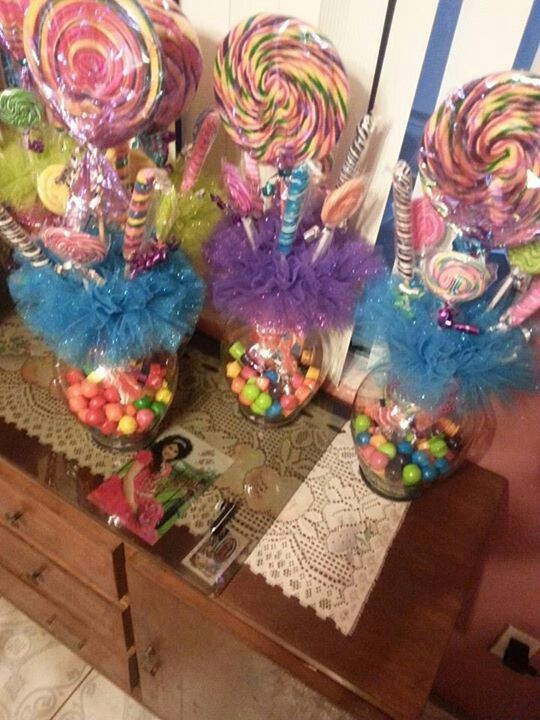 Lollipop Centerpiece | Quince | Pinterest | Birthday ...
