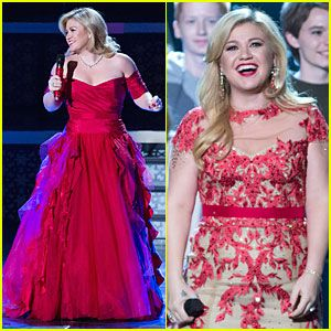 Those dresses! 'Kelly Clarkson's Cautionary Christmas Music Tale ...