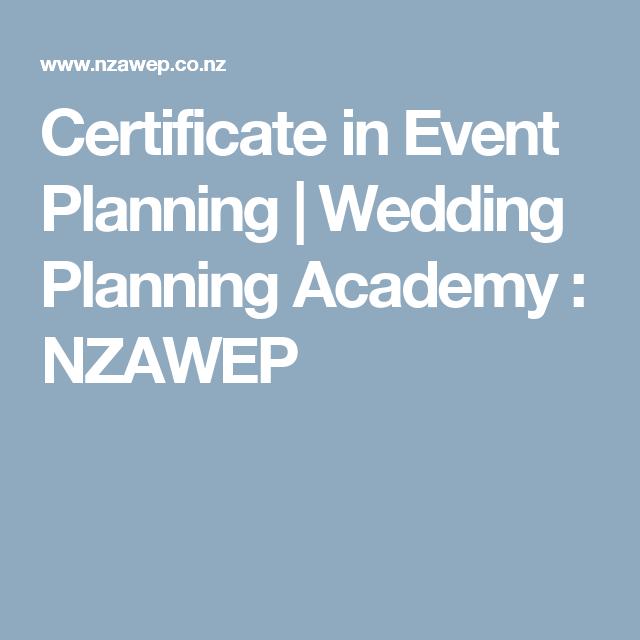 Certificate In Event Planning  Wedding Planning Academy  Nzawep
