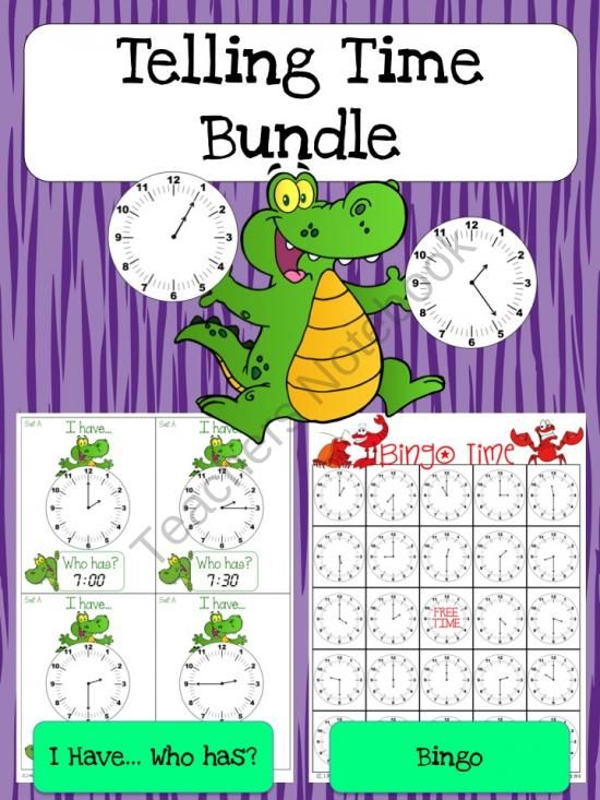 Telling Time Games Bundle product from Jasons-Classroom on TeachersNotebook.com