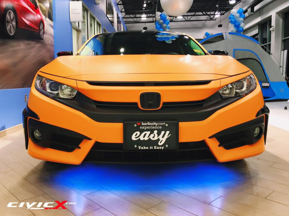 Modified 2016 Civic sedan by Berlin City Honda (With