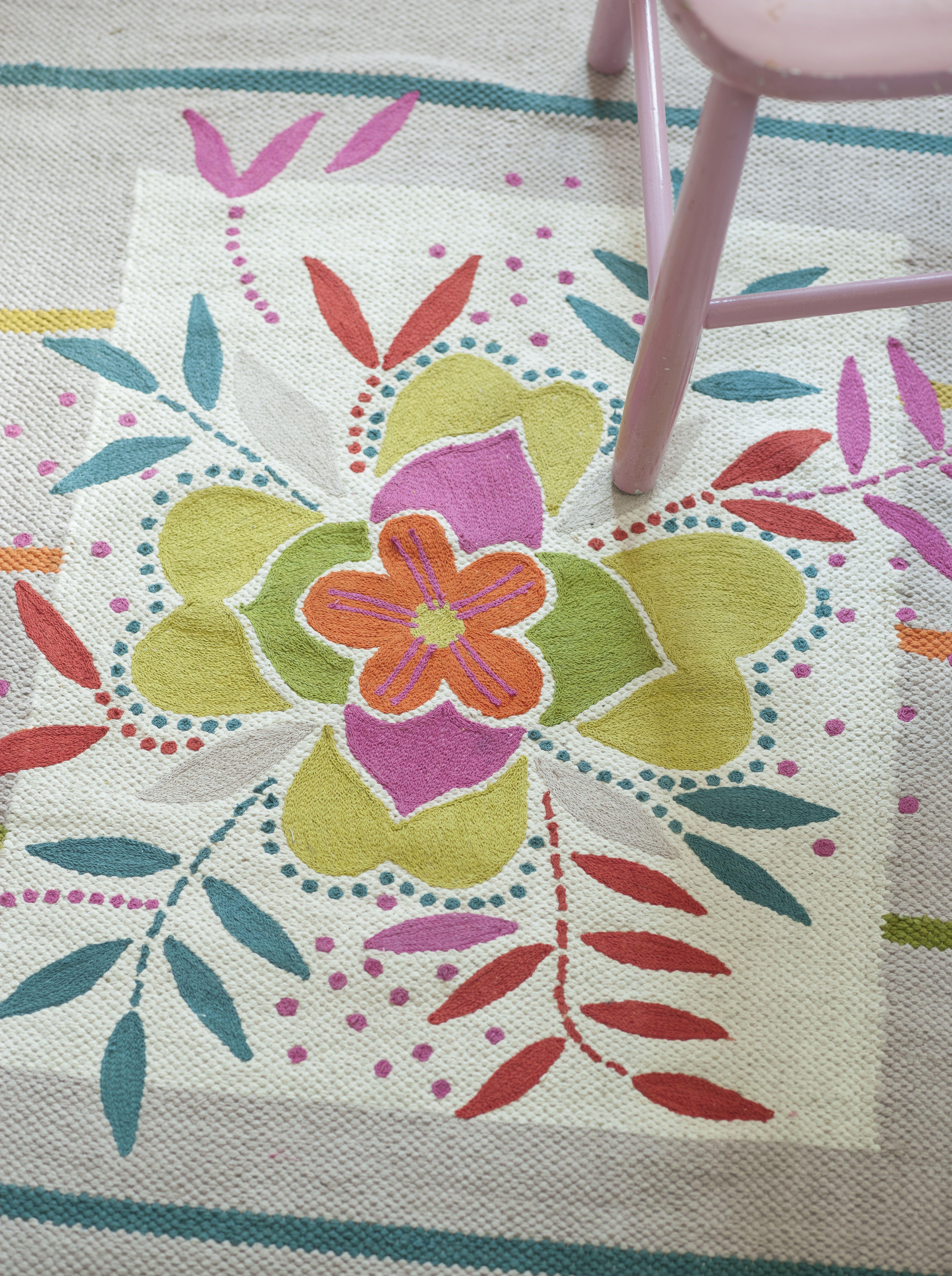 gudrun sj d ns sommerkollektion 2015 gestreifter teppich aus baumwolle in der gr e 80x160 cm. Black Bedroom Furniture Sets. Home Design Ideas