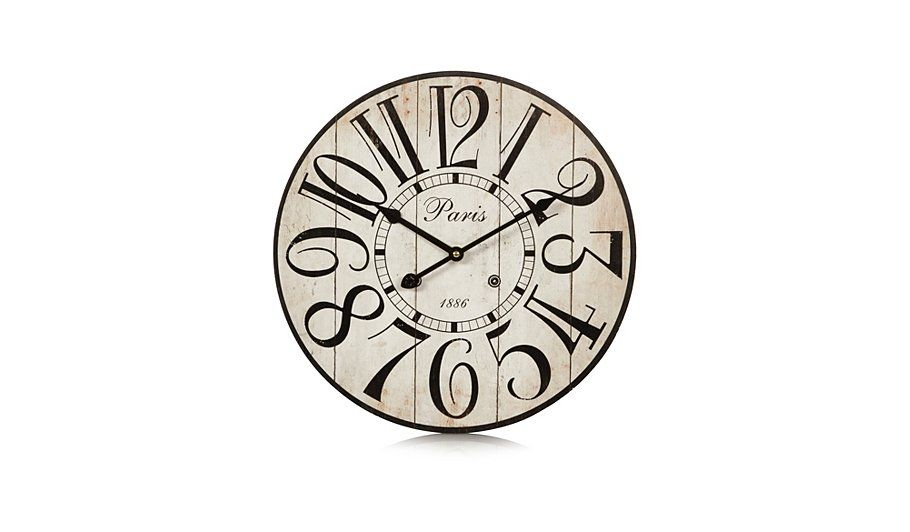Buy George Home Vintage Large Number Wall Clock From Our Home Accessories Range Today From George At Asda Large Number Wall Clock George Home Vintage House